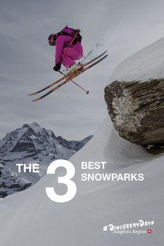 The 3 Best Snowparks Ranger, Fun Park, Parks, Grindelwald, Nike Logo, Check, Parkas