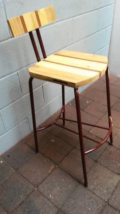 Vintage Lab Stool/Upcycled/Kitchen Stool/Bar Stool