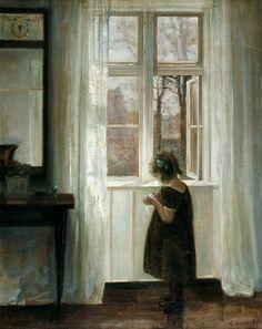 Carl Holsoe, petite fille près de la fenêtre, 1898