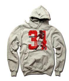 Bryce Harper MLBPA Officially Licensed Washington Hoodie S-3XL Bryce Harper Sketch R