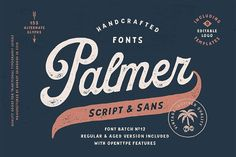 Palmer Script & Sans + Logo Template by Andrey Sharonov on @creativemarket