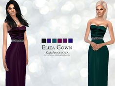 Long gown with velvet bodice and silk skirt.  Found in TSR Category 'Sims 4 Female Everyday'