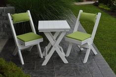 Amish Poly Coronado Square Folding Bistro Set Chic, comfortable and durable. The Coronado sets up an attractive bistro for your outdoor scene. Choose from a wide variety of colors. #outdoorfurniture Outdoor Dining Furniture, Garden Furniture, Amish, Bistro Chairs, Bistro Set, Table Dimensions, Red Cedar, Furniture Collection