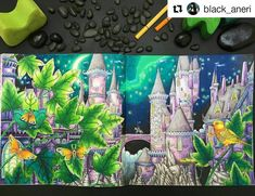 Incrível! #Repost @black_aneri with @repostapp  ・・・  Book: #zemljasnova by #tomislavtomic (Yes, you need this book. It's beautiful. )  Pencils: #kohinoor #mondeluz72 #stabilo #stabilo68  #colouring #coloring #colouringforgrownups