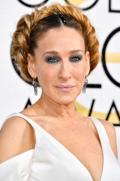 Sarah Jessica Parker - Try the classic milkmaid braid, but set it toward the back of your head like a halo
