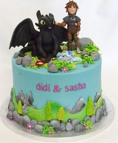 How to train your dragon cupcakes movies 42 Ideas Dragon Birthday Cakes, Dragon Birthday Parties, Dragon Cakes, Dragon Party, Dinosaur Birthday, Toothless Cake, Toothless Party, Bolo Minecraft, Girl Cakes