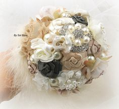 Hey, I found this really awesome Etsy listing at https://www.etsy.com/listing/224872452/brooch-bouquet-maid-of-honor-bridesmaids