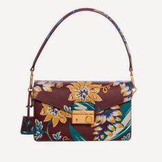 Prada Sound Shoulder Bag in Burgundy Floral Print Saffiano Leather BN924K