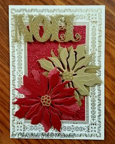 Christmas card that I made #AnnaGriffin #Cuttlebug #CricutExploreAir #Cricut #Handmade #ChristmasCard
