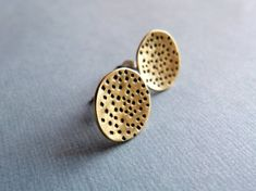 Ohrstecker Muster Messing & Sterling Silber Messing, Enamel, Stud Earrings, Etsy, Accessories, Jewelry, Circle Shape, Geometric Designs, Ear Studs