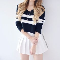 Looks femininos, roupas para magras, roupas para sair, roupas fofas, combin Teen Fashion Outfits, Mode Outfits, Girly Outfits, Cute Casual Outfits, Cute Fashion, Look Fashion, Outfits For Teens, Korean Fashion, Girl Fashion