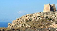"""#Almería #Níjar - Torre del Lobo GPS 36º 50' 50"""" -2º 1' 27"""" / 36.847222, -2.024167  Fue construida originalmente por los nazaríes, destruida en el año 1680 por un terremoto, y reconstruida en el siglo XVIII."""