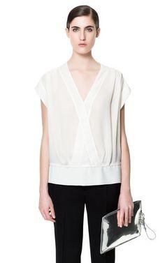 TOP COURT AVEC CEINTURE - Chemises - Femme - ZARA France // 0213