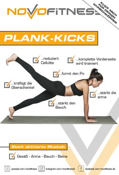 Klicke aufs Bild und schaue dir 21 weitere Plank Varianten an.