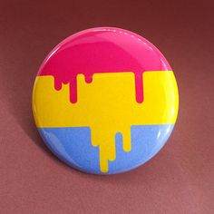 colors of the pansexual pride flag reworked with a unique dripping aesthetic. Need buttons for your pride event or group? Custom and bulk orders are available!  Shipping is discounted...