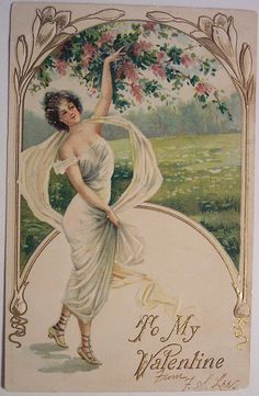 vintage valentine's day postcards | Vintage Valentine's Day Postcard | Flickr - Photo Sharing!