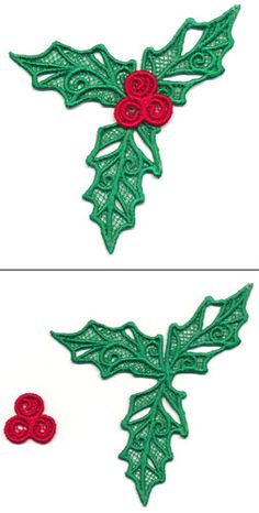 Holly Leaf (Lace) | Urban Threads: Unique and Awesome Embroidery Designs