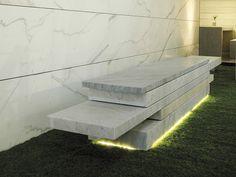 Panca in marmo senza schienale SLIDE 01 by FRANCHI UMBERTO MARMI design michele…