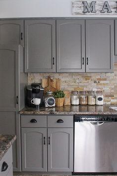 Kitchen Before and After Reveal   Builder grade kitchen, Quartz ...