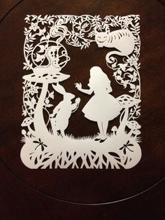 Alice+In+Wonderland+Paper+Cut+by+SketchMyLife+on+Etsy,+$65.00