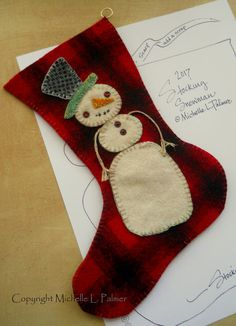 A little Christmas stocking to share with you~   We had our first frost & cold winds are beginning to blow!     Made my little snow fri...