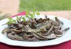 Melanzane con menta, aglio e aceto