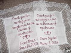 Mother of the bride/groom gifts.