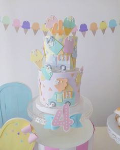 Baby Girl Cakes, Ice Cream Party, Table Lamp, Home Decor, Homemade Home Decor, Table Lamps, Interior Design, Home Interiors, Decoration Home