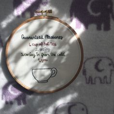 Guaranteed Pleasures Embroidery