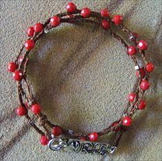 Handmade coral wrap bracelet   handmade-beaded-gemstone-jewelry.com