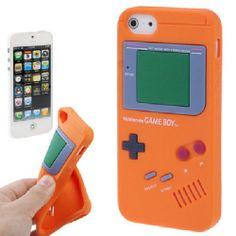 Silikon Full Case iPhone 5G Game Boy Look Orange
