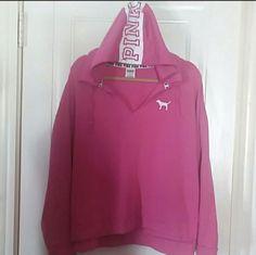 7fcef327ecc My Victoria s Secret Pink V-neck Hoodie by Victoria s Secret. Size L   10