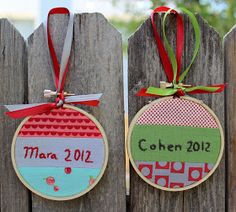 the red pistachio: Embroidery Hoop Christmas Ornament ~ A Tutorial