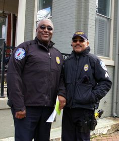 Lt. Michael Stith and Officer RP Jones smile for the camera!