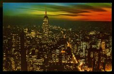 New York City, looking south by night.