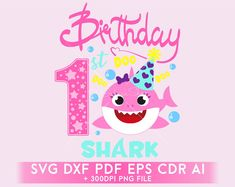 Baby Shark Birthday SVG clipart, birsthday girl Shark SVG dxf eps ai cdr pdf, Silhouettes Complete Clipart handcraft in scalable format Happy Birthday Girls, Baby Girl First Birthday, 2nd Birthday Parties, Toy Story Invitations, Birthday Invitations, Toy Story Videos, Diy Birthday Decorations, Shark Party, Baby Shark