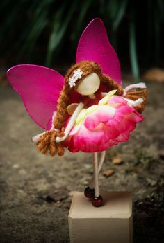 Pink Angel Doll Flower Petal Doll Fairy by OrientalColour on Etsy, $14.50