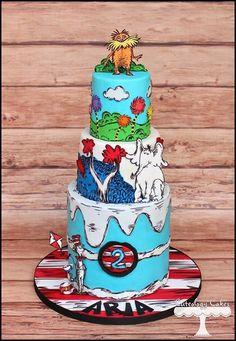 Cake Wrecks - Home - Sunday Sweets: Seuss Day Treats Fancy Cakes, Cute Cakes, Pink Cakes, Pretty Cakes, Dr Suess Cakes, 4th Birthday Cakes, Birthday Ideas, Birthday Parties, Cake Wrecks