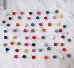 Party / Felt ball garland