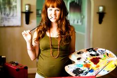 Prego artist me by Eden http://www.edenfrangipane.com/ #maternity #pregnant Almost 6months #art