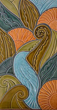 Stunning handmade tile