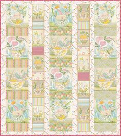 the promise of spring | by cori dantini  easter fabric, bunny in a cup  blendfabrics.com