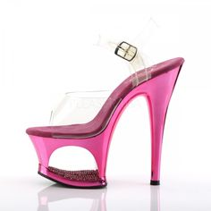 7 inch Heel, 2 inch Cut-Out PF Ankle Strap Sandal 7 inch Heel, 2 inch Platform Ankle Strap Sandal Featuring Rhinestone Detail In the Platform Women's Sizing Size Range: Baby Halloween Costumes For Boys, Boy Costumes, Cute Shoes, Me Too Shoes, 7 Inch Heels, Ankle Strap Sandals, Hot Pink, Chrome, Purple