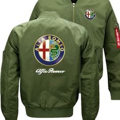 nuova giacca Alfa Romeo Bomber Flight Flying Winter