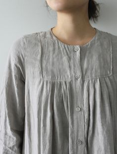 Ariana pretty in grey Linen Tunic Dress, Linen Dresses, Exclusive Clothing, School Dresses, Kurta Designs, Mom Outfits, Casual Elegance, Nightgown, Sewing Clothes
