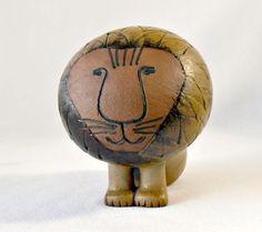Mid Century Mod Gustavsberg Pottery by Lisa Larson Lion, Danish 1960s Afrika Series Large Lion, Scandinavia Design, Sweden Lion Sculpture