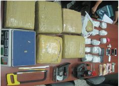 DNCD apresa 4 de una red con 59 libras de  marihuana y cocaína en Santiago
