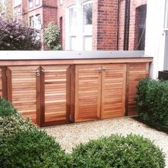 Bespoke cedar bin and bike store richmond