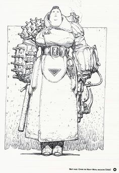 Female Guard, concept character for SF story. Artwork by Oscar Chichoni Female Character Design, Character Design References, Character Design Inspiration, Character Concept, Character Art, Concept Art, Arte Sketchbook, Arte Horror, Art Graphique