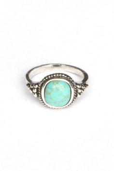 Silver Torquoise Ring -- Andrea's Blog: Brandy Melville Fashion